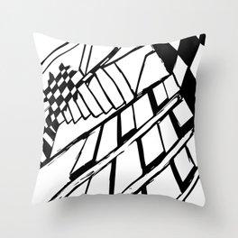 Broken Chess Throw Pillow
