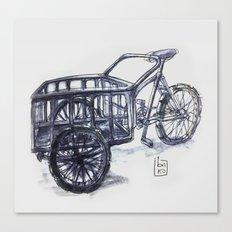 vietnam delivery bike Canvas Print