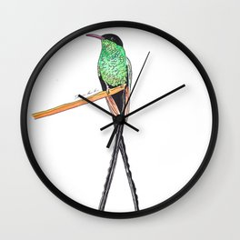 Long Tail Humming bird Wall Clock