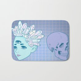 The Witch And The Skull Bath Mat