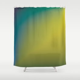 Earthy Peacock Gradient Shower Curtain