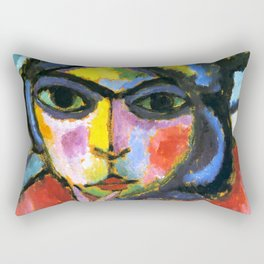 "Alexej von Jawlensky ""Pensive woman"" 1913 Rectangular Pillow"