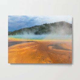 Yellowstone National Park Grand Prismatic Spring Nature Photography Metal Print