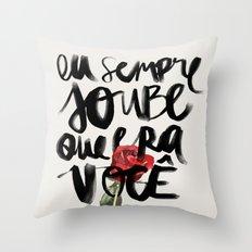 Você Throw Pillow