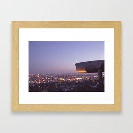 Angel City Lights, L.A. at Night, No. 3 Framed Art Print