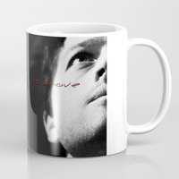destiel Mugs featuring Dean/ Castiel, Destiel by  Marina Teyya