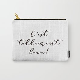 It's so beautiful French Quote Black and White Home Decor Carry-All Pouch