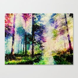 Synesthetic Forrest Canvas Print