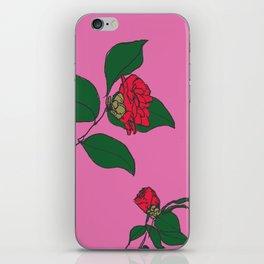 Red Camellia iPhone Skin