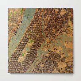 Central Park map Metal Print