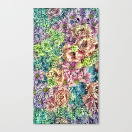 Funky Florgastic Canvas Print