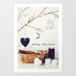 Feliz Navidad. Christmas Card Art Print