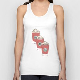 Christmas Design Starbucks  Unisex Tank Top