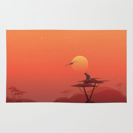 African sunset Rug