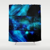 malachite Shower Curtains featuring Windows To A Space View by minx267