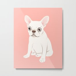 Sweet Cream French Bulldog Wants Your Pet Metal Print