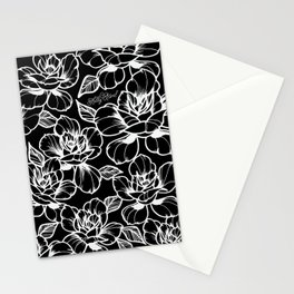 Black Roses Stationery Cards