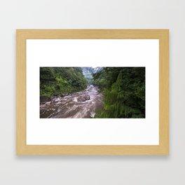 Upper Ngakawau River in flood, Charming Creek Walkway, Buller, New Zealand. Framed Art Print