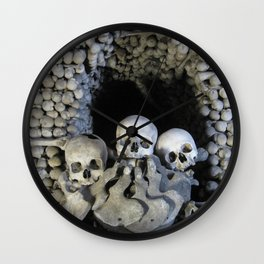 Ossuary (Bones and Skulls in the Cemetery Church of All Saints) Wall Clock
