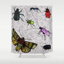 Beautiful Bright Bugs Shower Curtain