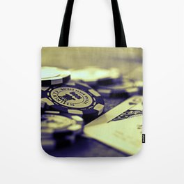 Casino Chips & Cards-B&W Tote Bag