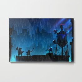 Rooftop Rumble Metal Print