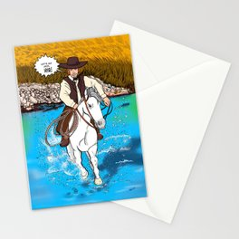 Frontier Tales: Jimmy and his horse Jack Stationery Cards
