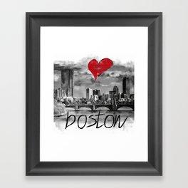 I love Boston Framed Art Print