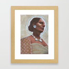 Woman with Necklace Framed Art Print