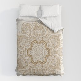 Mandala Temptation in Cream Comforters