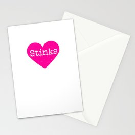 Love Stinks | Pink Heart Stationery Cards