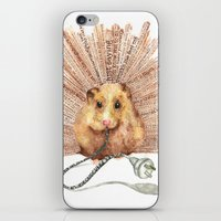 hamster iPhone & iPod Skins featuring Hamster by Creative Stace