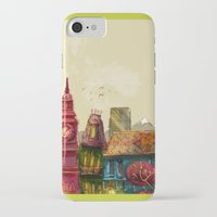 cities iPhone & iPod Cases featuring Cities by Elisa Gandolfo