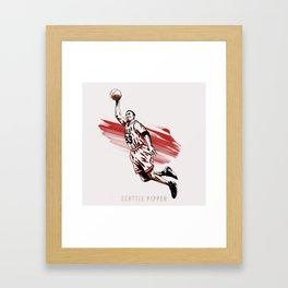 Scottie Pippen Framed Art Print