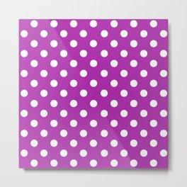 Polka Dots (White & Purple Pattern) Metal Print