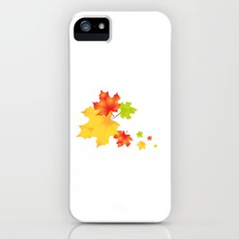 leaf fall iPhone Case