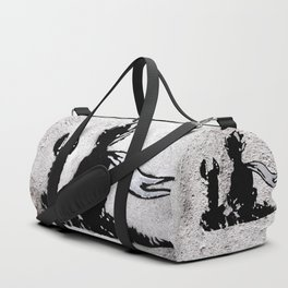 The little prince and the fox - stencil for the LIFE CURRENT WALL series Duffle Bag