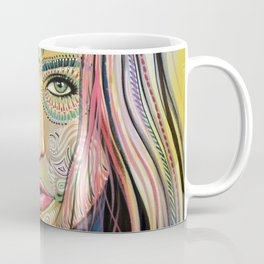 Abstract Art Women Portrait Painting ... Soul of Sunshine Coffee Mug