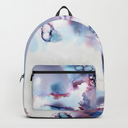 Grey Alien Bubble Storm Abstract Backpack