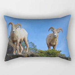 Rams in the Rockies Rectangular Pillow