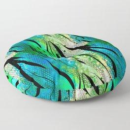 Tropical,animal print pattern Floor Pillow