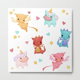 Mythical Creatures Metal Print