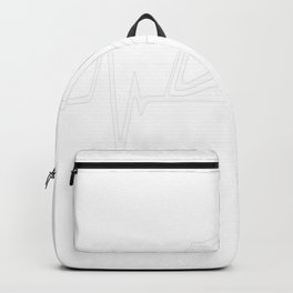 Book Reading Heartbeat Love Backpack