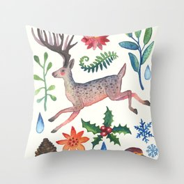 Christmas will come again Throw Pillow