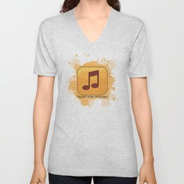 Pop Music Unisex V-Neck