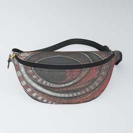 Beautiful Striped Fractal Circles, the Thousand and One Rings of the Circus Fanny Pack