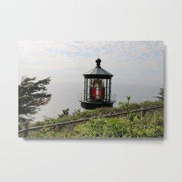 The Red Beacon On Tillamock Bay Metal Print