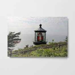 The Red Beacon On Tillamock Bay Metal Print