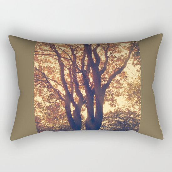 old forest at twilight Rectangular Pillow