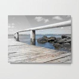 Jetty at bridgewater Metal Print